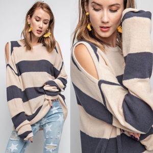 LYNH Striped Tunic top